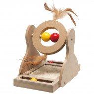 Tumbler Krabspeelgoed Hout - 30 Cm Bruin